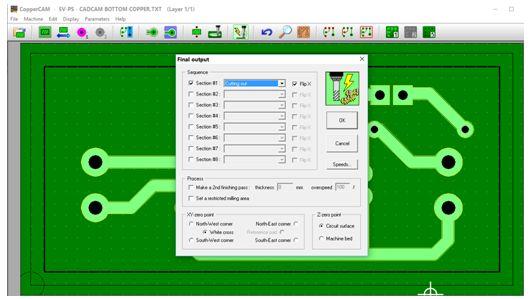 كيفية تحويل وقشط  mill مخطط PCB على ماكينة CNC 1610