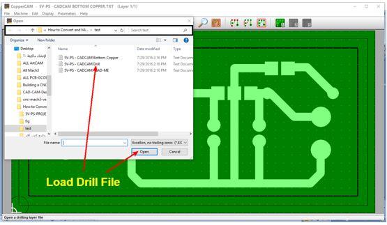 كيفية تحويل وقشط  mill مخطط PCB على ماكينة CNC 411