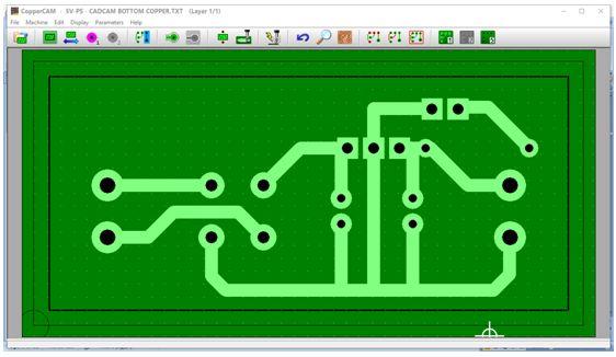 كيفية تحويل وقشط  mill مخطط PCB على ماكينة CNC 511