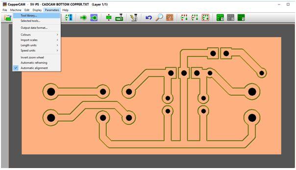 كيفية تحويل وقشط  mill مخطط PCB على ماكينة CNC 810