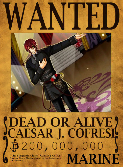 Wanted Poster Drawing Board Caesar10