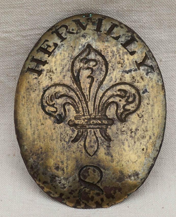 PLAQUE de Baudrier de l'Armée des Émigrés du Régiment d'Hervilly Auray 111