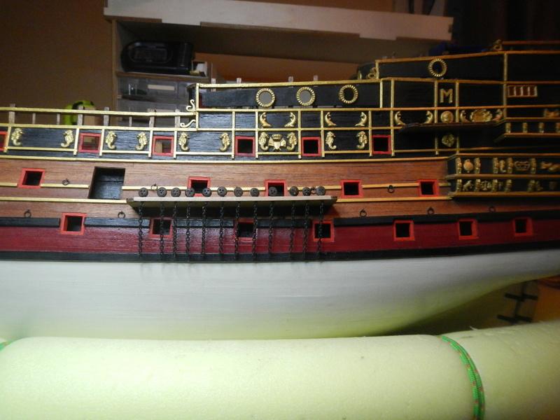 """Construction du """"Sovereign of the Seas"""" au 1/84 par Glénans - Partie II - Page 6 Dscn4027"""