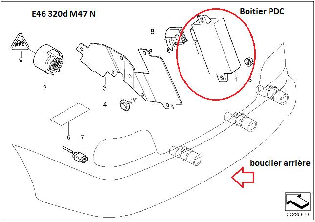 [ BMW E46 320D an 2002 ] Probleme radar de recul HS 66_pdc10