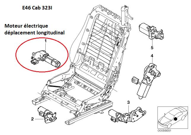 bmw e46 323 ci cab an 2000   probl u00e8me si u00e8ges  u00e9lectrique