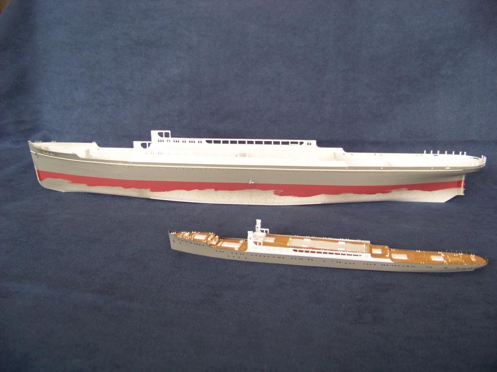 Paquebot mixte Hikawa Maru, pont bois, photo-découpe, Hasegawa 1/350. 100_9313