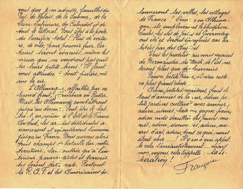 Une lettre ronéotypée 1944 Docume13