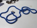 Costume necklace Blue beads 00110