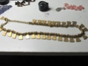 Gold costume necklace  00410