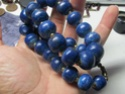 chunky blue bead necklace  00710
