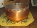 Vintage copper bowl from Beverly Hills California  02312