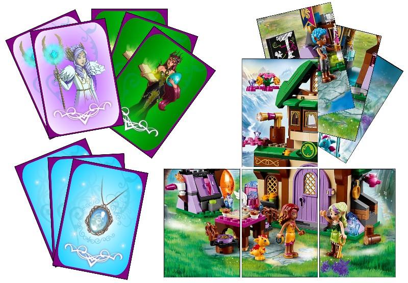 Jeux de cartes LEGO® Elves type Diamoniak. Jeux_d10