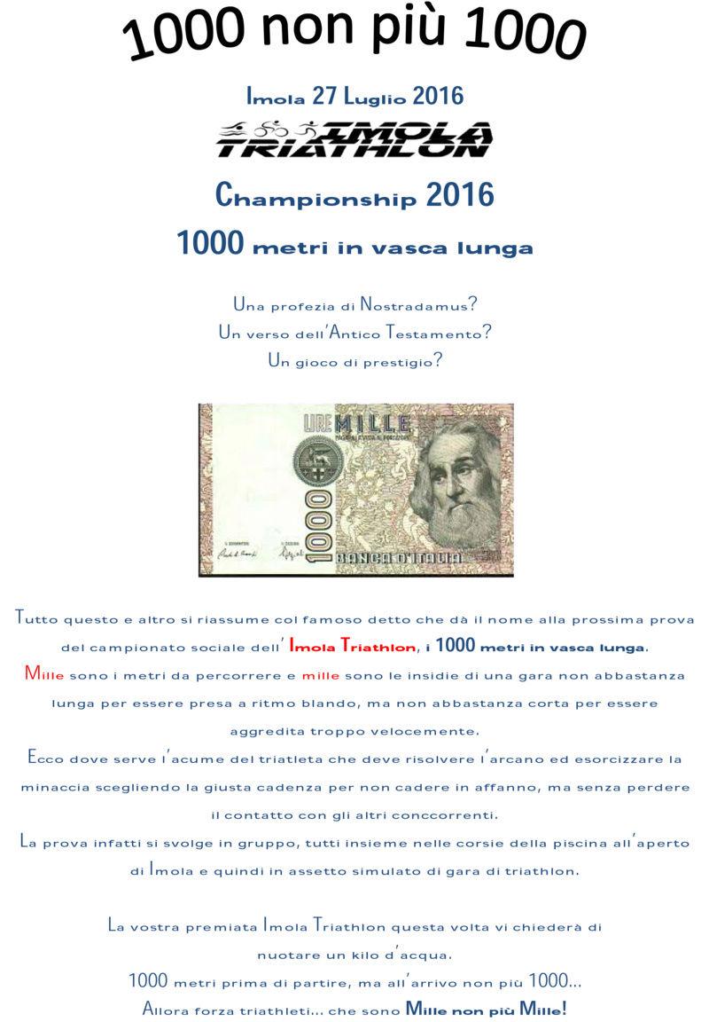 Campionato sociale 2016 - 8° Prova - Mercoledì 27/07/2016 - 1000 non più 1000 (1000m Nuoto) 1000_n10
