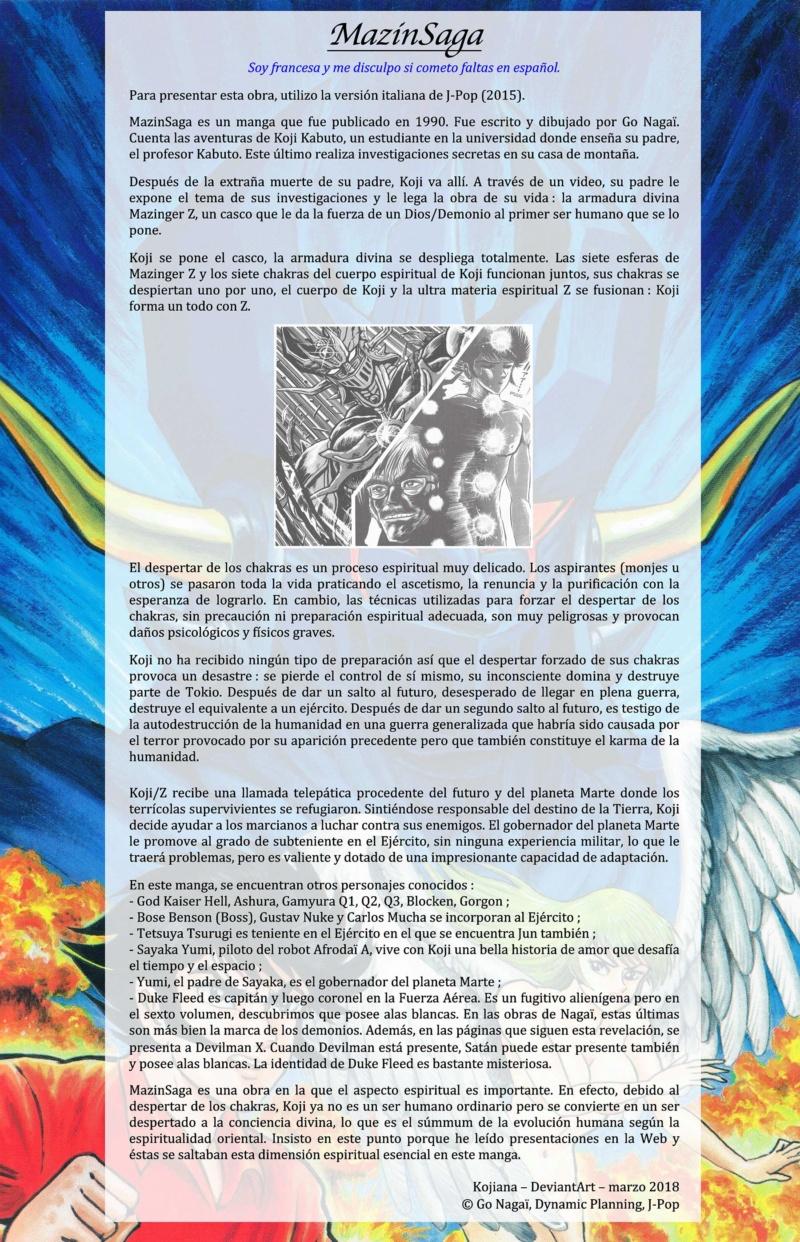 Presentación del manga MazinSaga Mazins10