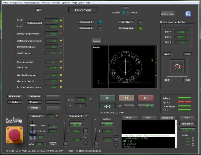 Nouveau screen pour Mach3 Percem10