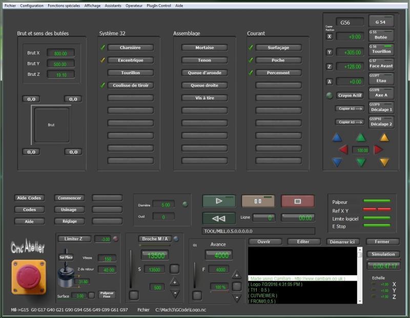 Nouveau screen pour Mach3 Usinag10
