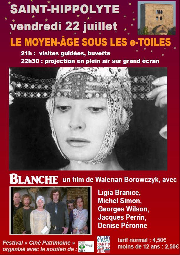 Ciné-Patrimoine - Le Moyen-Âge sous les e-Toiles à Saint-Hippolyte vendredi 22 juillet  Affich11