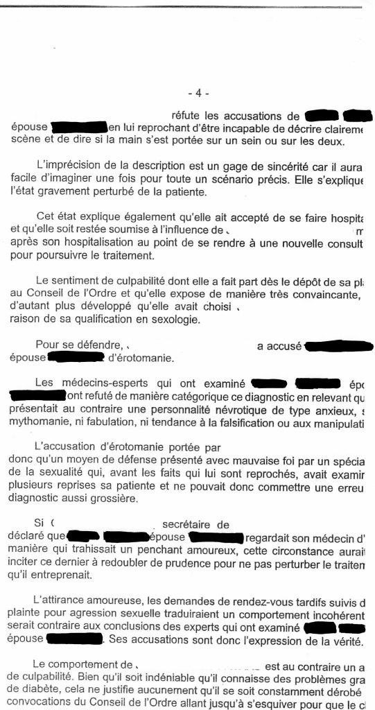 jugement correctionnel 1998 Angers psychiatre abus sexuel