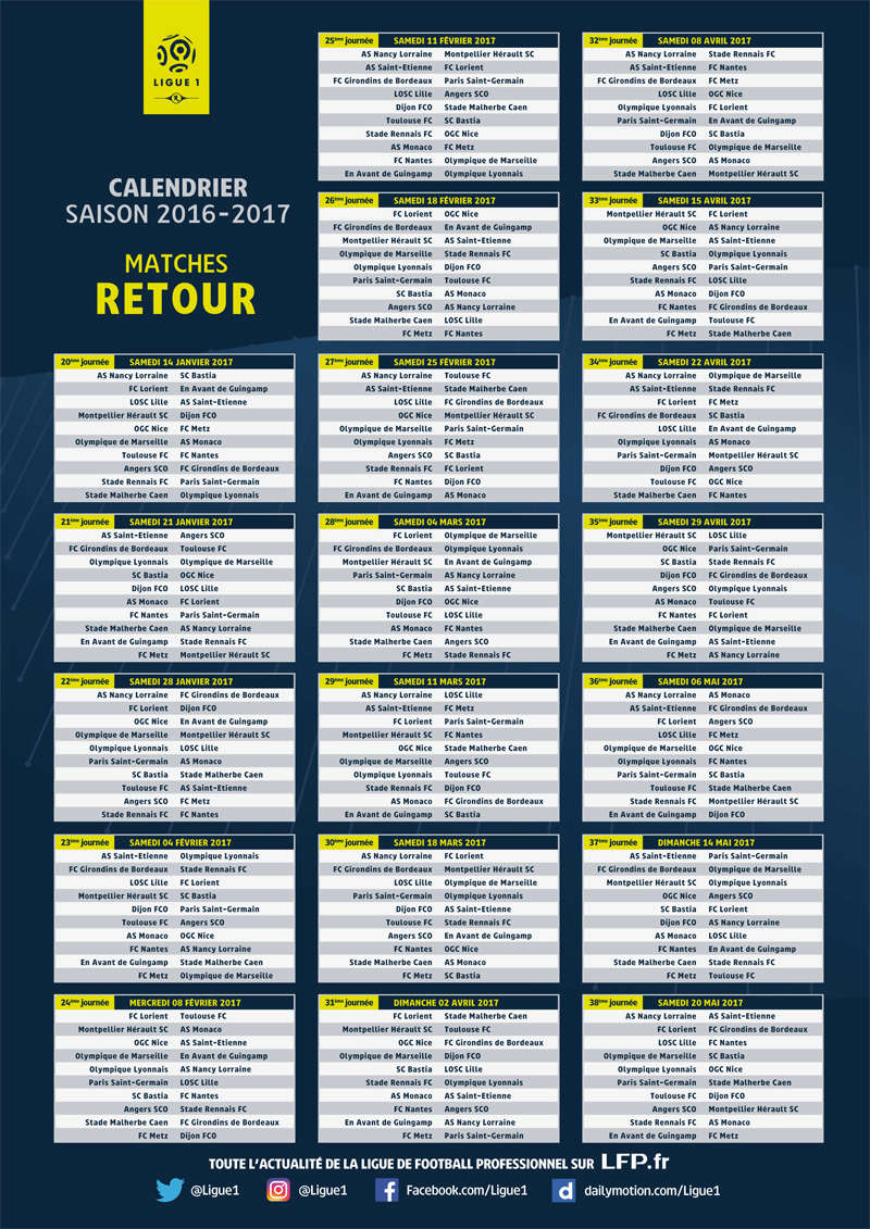 [Ligue 1] Calendrier saison 2016-2017 Calend10