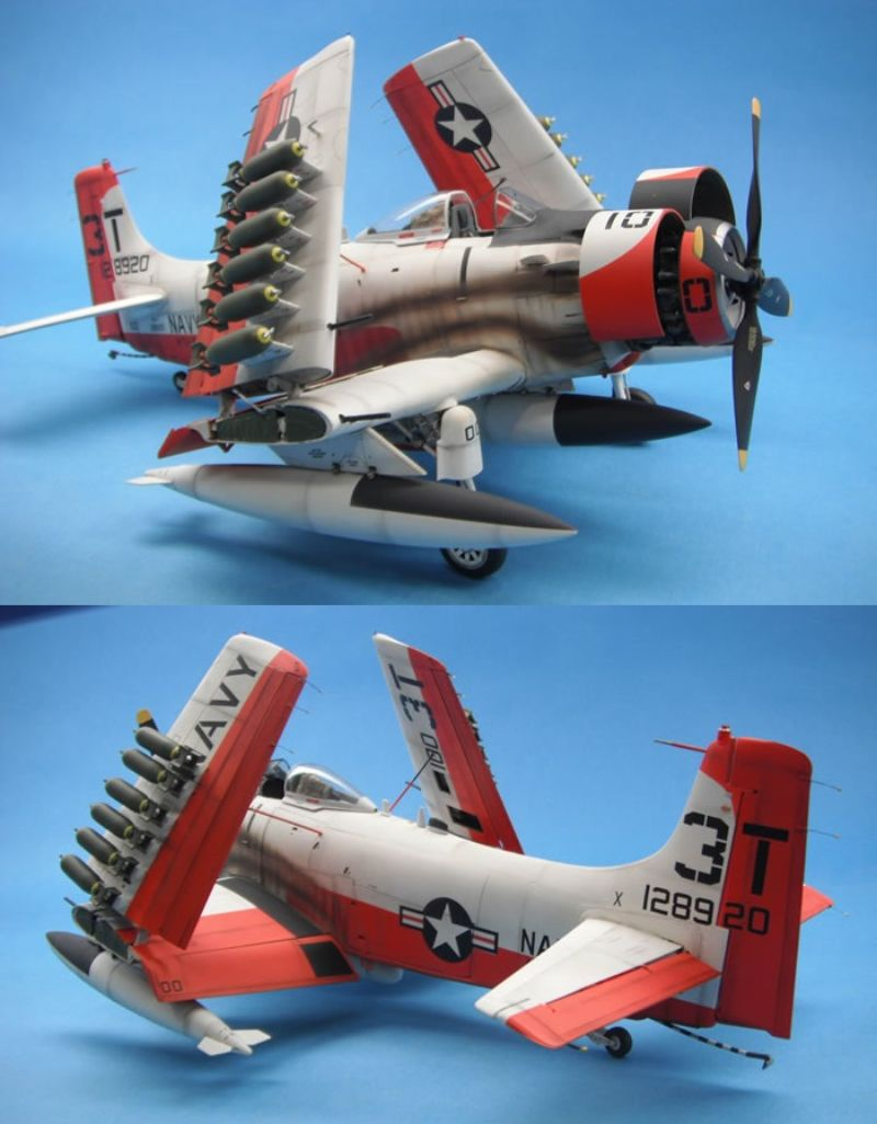 [TAMIYA] Douglas A1 Skyraider: rénovation d'un souvenir Skyr2810