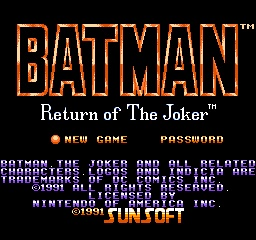 BATMAN - RETURN OF THE JOKER Batman11
