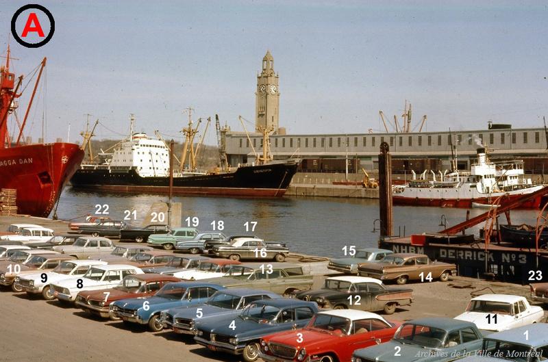 Identifiez le plus de (vieilles) voitures. Port_d10