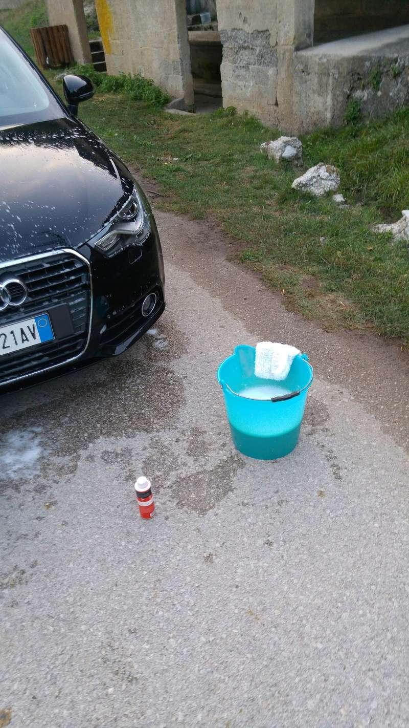 Peppo principiante su Audi A1 Nero perla ... Dodo detailing spray vs Scholl Neo 20160859
