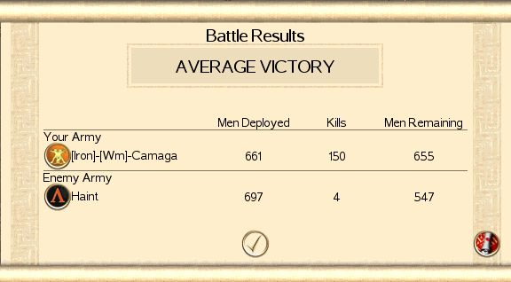 Camaga's victories Haint110