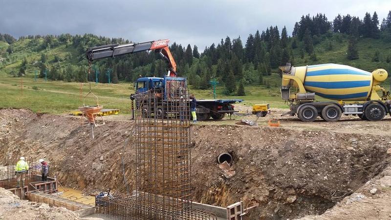 Construction du télésiège débrayable 6 places TSD6 Claran 13882010