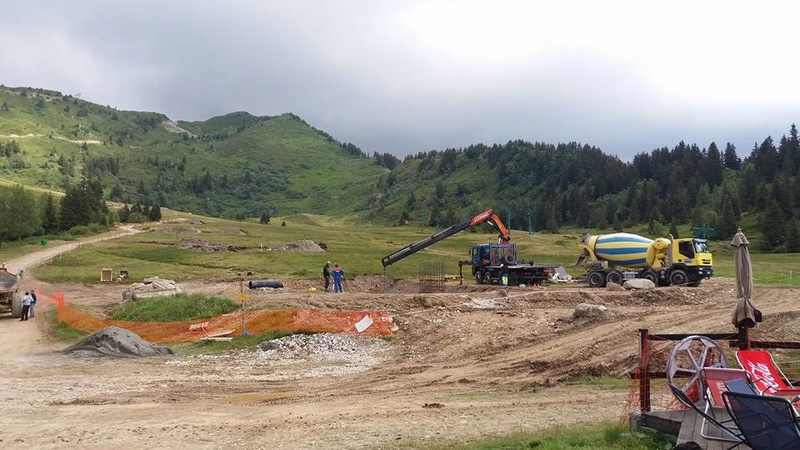 Construction du télésiège débrayable 6 places TSD6 Claran 13902610