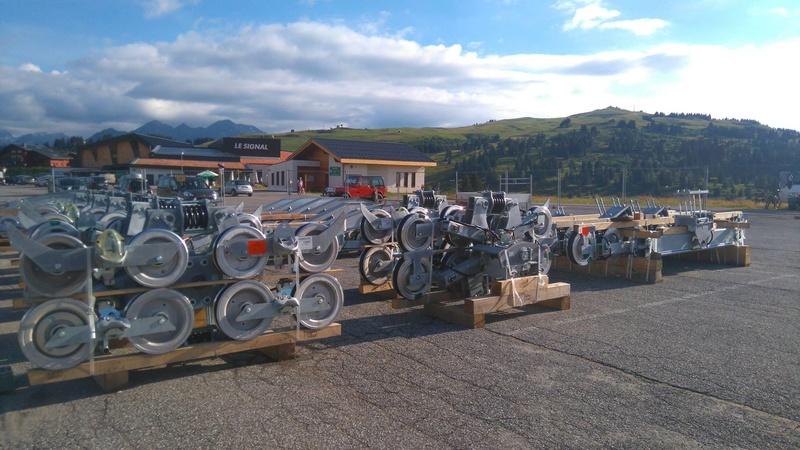 Construction du télésiège débrayable 6 places (TSD6) de Bisanne 14102910