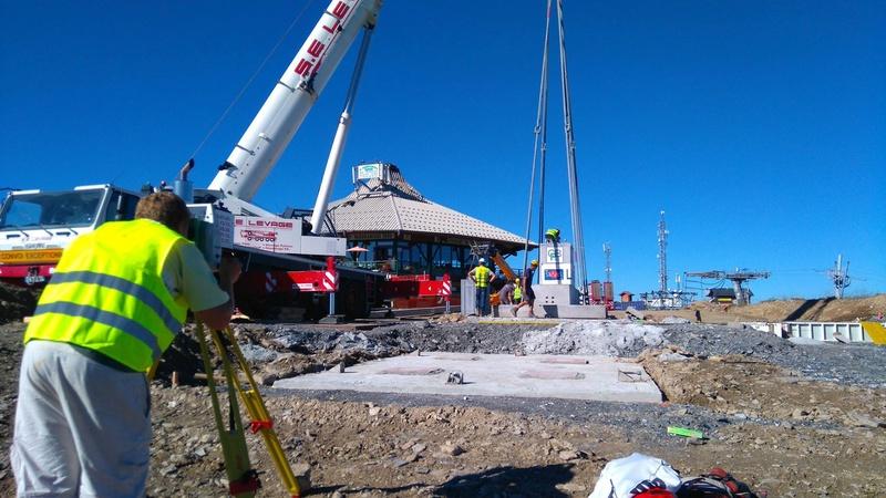 Construction du télésiège débrayable 6 places (TSD6) de Bisanne 14188510