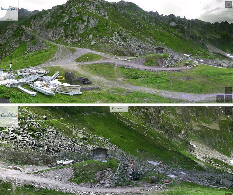 Construction du télésiège débrayable 6 places (TSD6) de la Parsa Parsa10