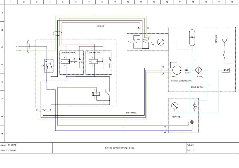 Schéma de câblage d'un Manomètre à deux contacts Schyma11