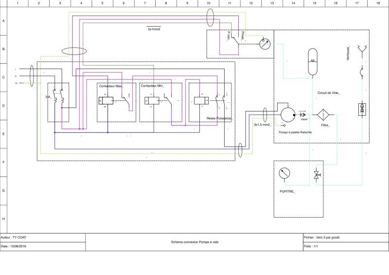 Schéma de câblage d'un Manomètre à deux contacts Schyma13