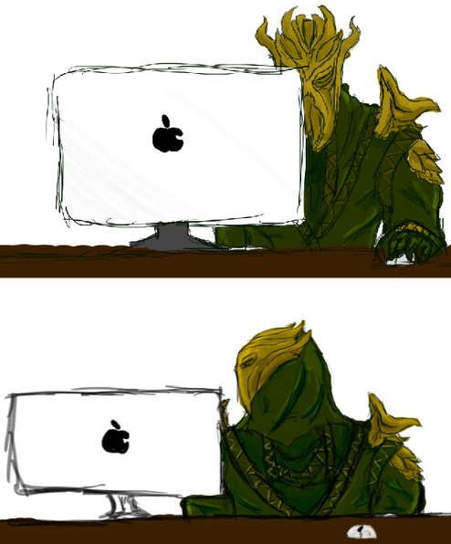 Miraak finds the internet Miraak10