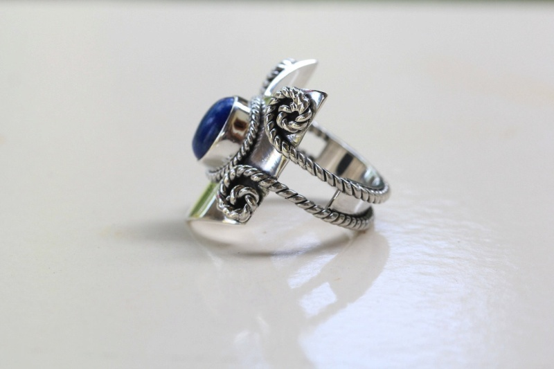 FS: Lapis Chevron Ring By Donbiu Lap110
