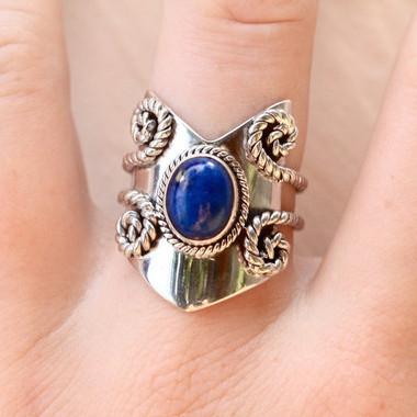 FS: Lapis Chevron Ring By Donbiu Lap310