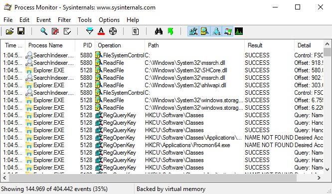 Microsoft Process Monitor 3.50 182