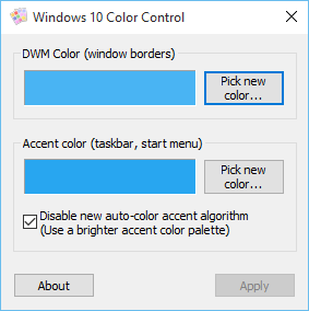 Windows 10 Color Control 1.3 Window11