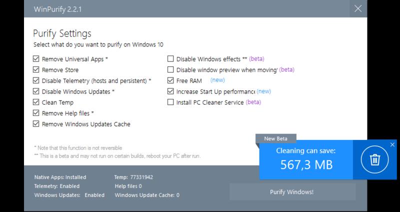 WinPurify 2.3 Winpur10