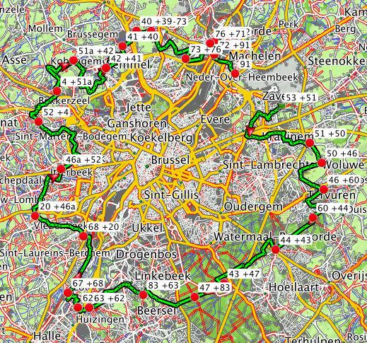 Tour de Bruxelles via les knooppunten [itinéraire] Screen10