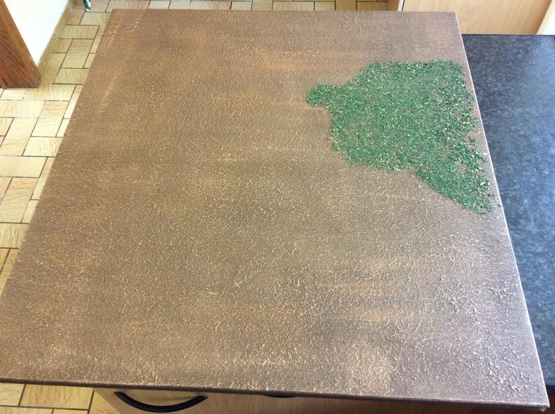Texturer une table de jeu avec du Polyfilla 14102810