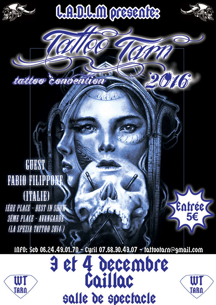 convention TATTOOTARN 2016 GAILLAC (81) Affich10