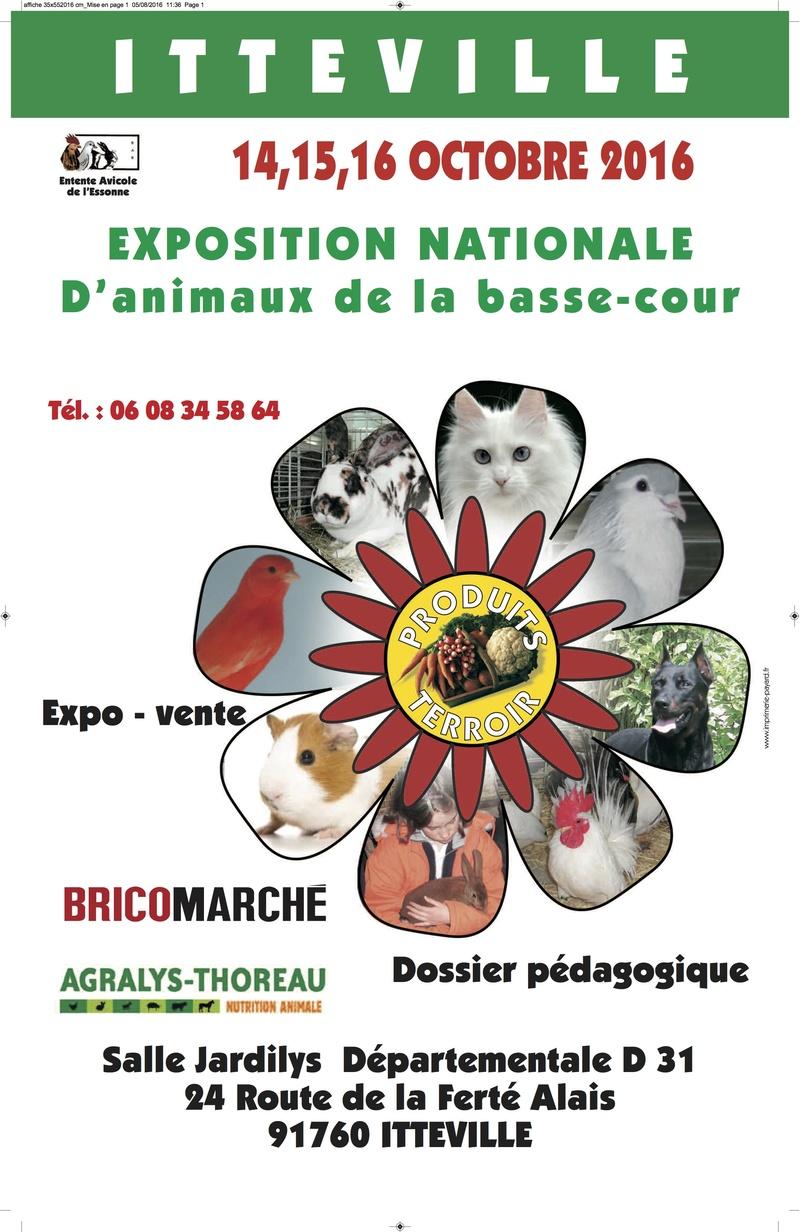 Expositions avicoles en OCTOBRE 2016 Affich10