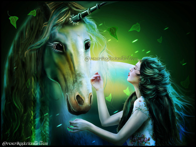 Licornes, centaures et chevaux ailés La_lic10