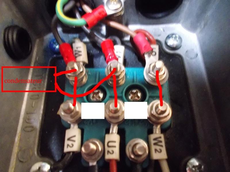 Inversion du sens de rotation d'un moteur 220V tri avec condensateur Dscn0218