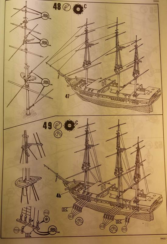 Historic Whaling Ship Charles W. Morgan in 1/110 von Revell Comp_102