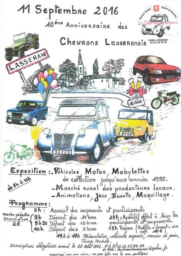 10 ième anniversaire des Chevrons Lasseranais 2cv_ch10