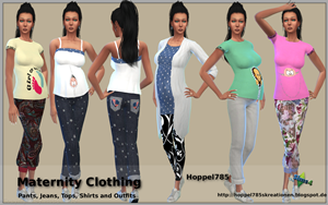 Sims 4 Maternity Clothing by hoppel785 Vorsch10
